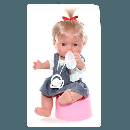 Кукла Baby Pipi Девочка в джинсовом платье