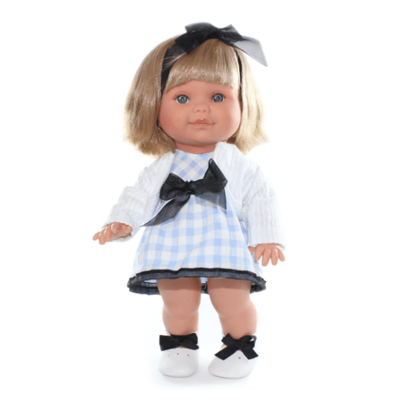 Кукла Betty в голубом платье в клетку
