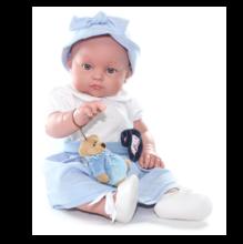 Кукла Chencho девочка с зайкой в голубом