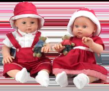 Кукла Chencho мальчик с мишкой в красном