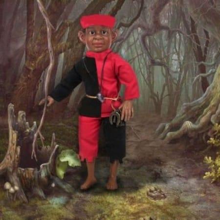 Кукла Элеггуа сантерия (хранитель ключей судьбы)