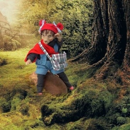 Кукла Красный Мышонок кельтский эльф (счастье)