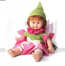 Кукла Малышка фея в зеленом колпачке